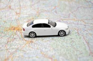 Fleet GPS tracking devices with car location on map