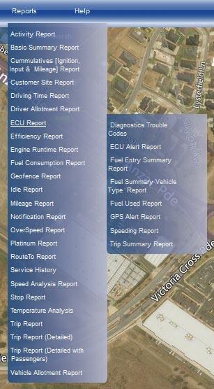 fleet management reporting GPS tracking data