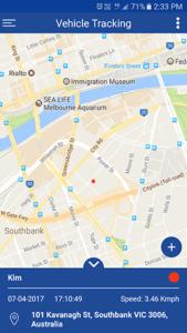 Fleetminder GPS tracker mobile app fleet on Google map
