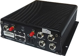 Fleetminder MDVR multi channel IP camera unit for live video streaming