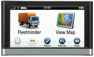 Garmin screen nuvi 2597 with fleetminder gps trackers