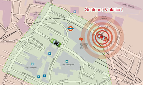 GPS vehicle tracking devices geofence zone