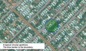 GPS tracking live tracking service geofence circular