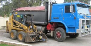 GPS tracking of construction machinery and trucks