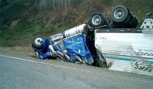 GPS truck driver tired crash