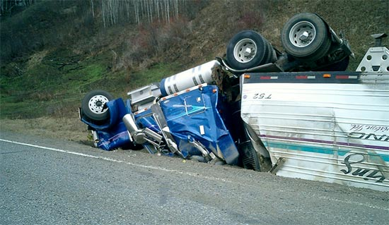 GPS truck driver tired crash