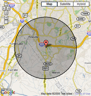 GPS vehicle tracking geofencing map