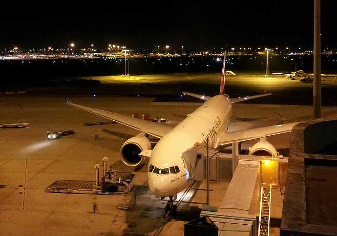 GPS vehicle tracking Perth airport at night