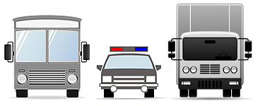 Bus, emergency vehicles and truck mdvr