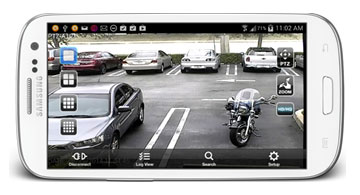 Mobile phone live streaming vehicle camera video