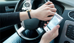 Prevent distracted drivers fleet use of garmin screen