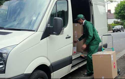 Van pickup service delivery fleet